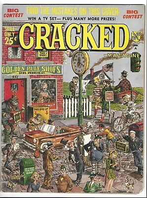 CRACKED MAGAZINE no.49 SILVER AGE MAJOR COMIC BOOK Severin c 1966 Munsters pinup