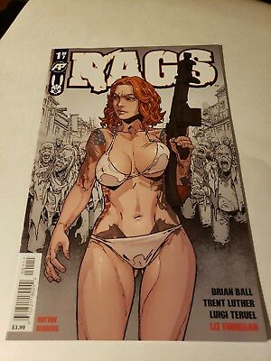 Rags # 1 Antarctic Press ! Very Cool and Very Sold Out ! New Unread !