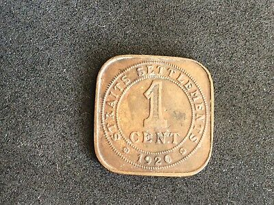 1920 KGV Straits Settlements One Coin - Nice Collectable Coin - F+