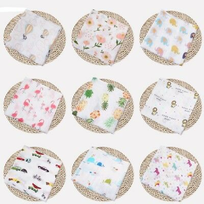 Newborn Baby Cotton Swaddle Muslin Blanket Infant Sleeping Bag Swaddle Wrap New