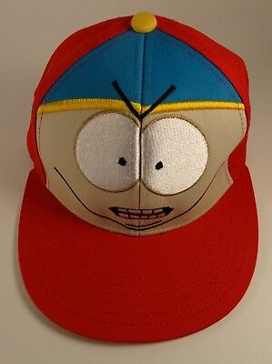 eda3363d503 South Park Eric Cartman Fitted Baseball Cap Red Hat Stitched Size L XL  Southpark
