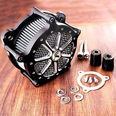 Shallow Cut  Air Cleaner Kit For Harley Touring Street Glide FLHX FLHR 08-16