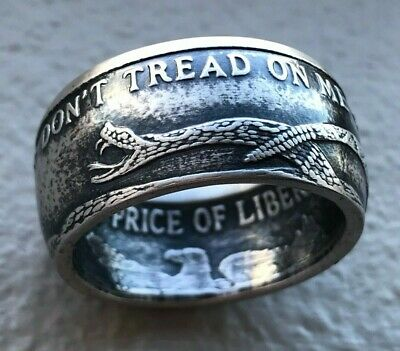 Don't Tread on Me .999 1 oz Silver Coin Ring