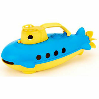 Green Toys- Submarine Yellow Cabin sturdy watercraft /scoop-and-pour fun