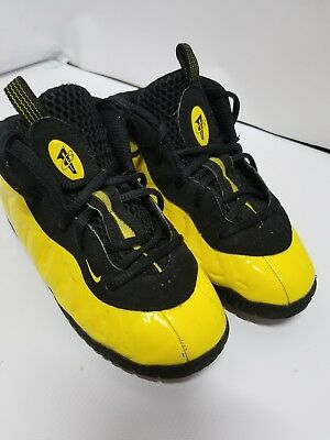 6f62fd13291d7 Nike Little Posite One Wu Tang Shoes 723947 701 Size 10C Bumble Bee  foamposite