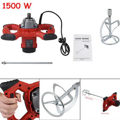 1500W 6-speed Switch Mixer Stirrer Single Paddle for Plaster Paint Cement Mortar