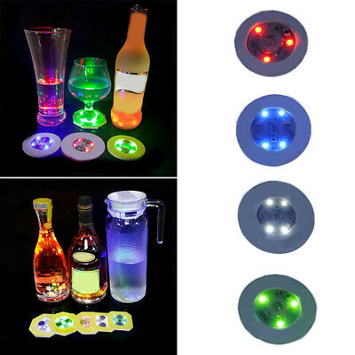 Fashion Bottle Led Light Cup Sticker Mat Bar Club Party Coaster Decor Cheerful