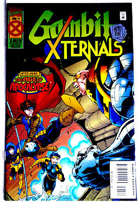 """GAMBIT AND THE X-TERNALS  #4: """"In The Age Of Apocalypse"""". June 1995, Marvel. NM."""