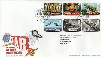"""Gb Fdc 2011 """"fab:gerry Anderson"""""""