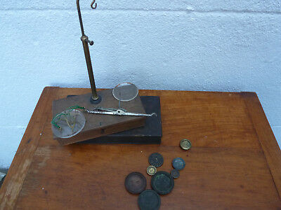 Antique Pocket Alchemist Apothecary Gold Scales Weights spares repair