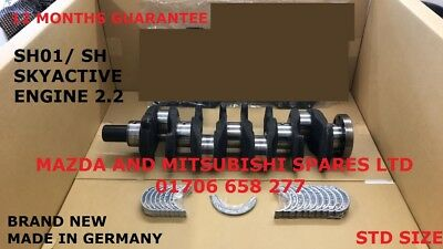 Mazda Skyactive Crankshaft 2.2 Diesel Sh Shy1 Engine  Sh01 6 Cx5 3 Cranks