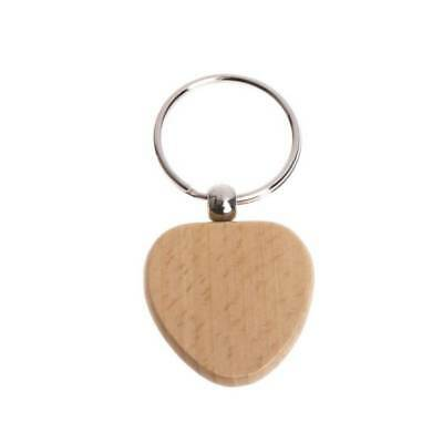 Natural Wooden Key chain Key Ring Round Square Anti Lost Wood Accessories Gifts
