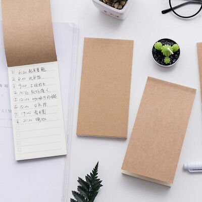 1 pc To Do List Memo Pads Craft Cover Planner Notes Diary Stamps Paper