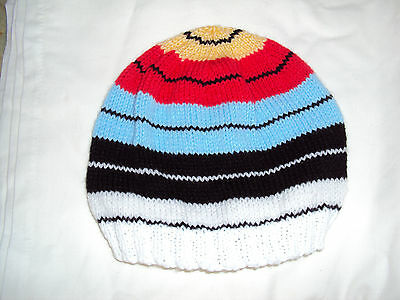 BEANIE HAT - Like an Archery Target - recently hand knitted (Large)