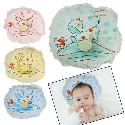 Newborn Baby Infant Pillow Cushion Anti Flat Support Head Soft Velvet Cotton UK