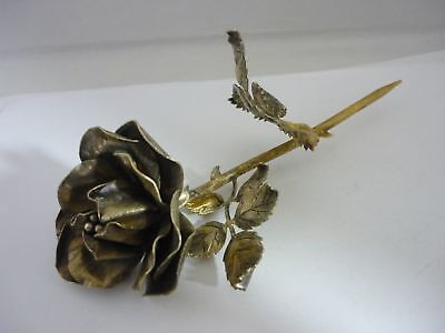 Rare Large Vintage Janna Thomas Sterling Silver Rose Sculpture By Tiffany & Co