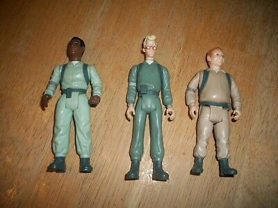 Three Ghostbuster 1984 Columbia Pictures Pencil Sharpener Action Figures