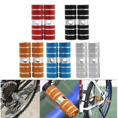 2 x BMX Mountain Bike Bicycle Axle Pedal Alloy Foot Stunt Pegs Cylinder
