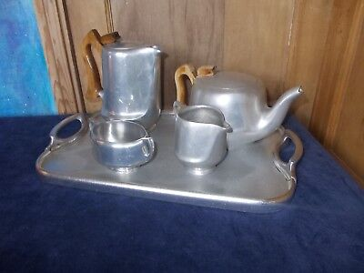 Vintage Picquot ware 1950s Tea set with tray