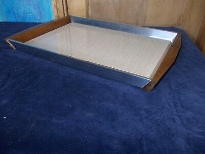 Vintage Picquot Ware Serving Tray, Formica Finish On Tray.