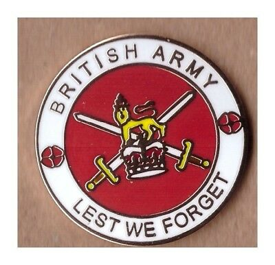 british army lapel badge heroes  British Armed Forces lest we forget infantry