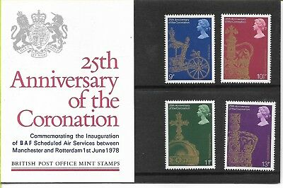 GB 1978 Coronation Presentation Pack Specially Produced Sponsored Edition.