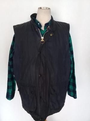 Mens BARBOUR Westmorland WAXED Jacket Navy Size XL