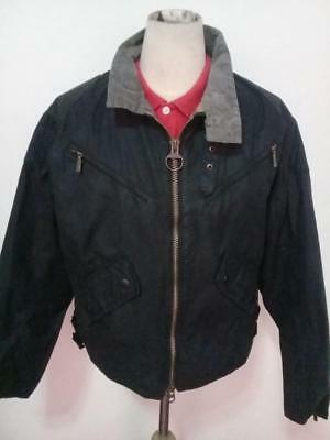 Mens BARBOUR A18 International Bike WAXED Jacket Black Size Medium