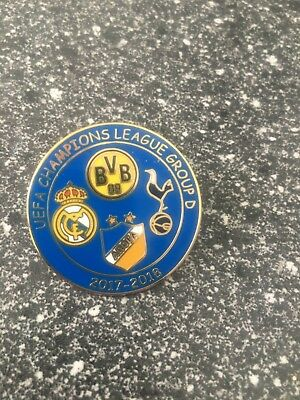 Pin Champions League 2017-2018 Borussia Dortmund-Real Madrid-Spurs