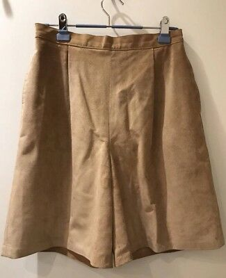 Danier Leather High Waisted Suede Shorts Size 12