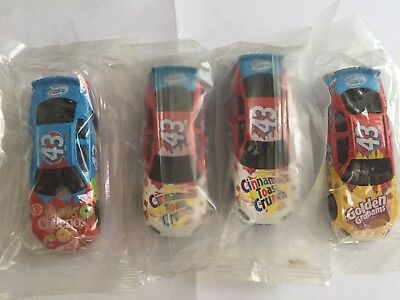 NASCAR #43 - Lot of 4 Different Cars - 1:64 Scale - General Mills Die-cast Cars