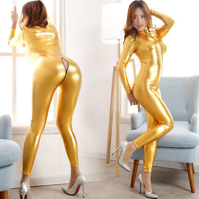 Gothic Domina Latex Catsuit, Latexcatsuit, Latexanzug, Overall, Gold, Gr. M Neu