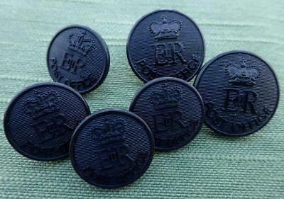 Collection of 6 Royal Mail ER Post Office Buttons