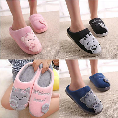 b53dce2ecce FUNNY Cute Cozy Cat Paw Slippers Women Men Lover Home Warm Winter Slippers  Shoes