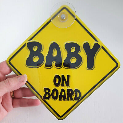 CHILD WITH AUTISM novelty baby on board car window sign