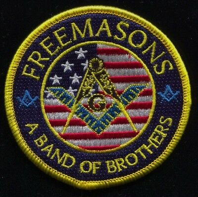 """Masonic A Band Of Brothers Arm Patch / Jacket Patch 3"""" Diameter *New Item* PA001"""