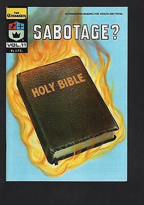 Crusaders #11 Sabotage? Chick Publications VF/NM 9.0 White Pages