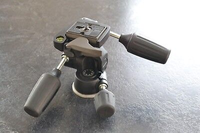 "Manfrotto 804RC2 Pan Tilt Camera Tripod Head + ""Quick Lock"" Release Plate"