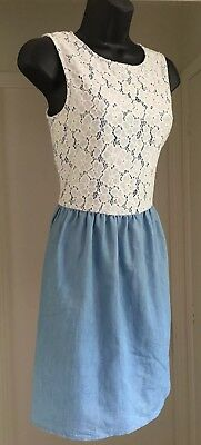 New Look Denim Summer Dress Size 14