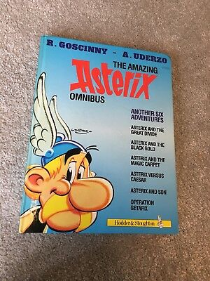 Vintage The Amazing Asterix Omnibus 6 in 1 Adventure Book Goscinny & Uderzo