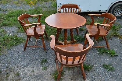 Vintage Antique Cushman Colonial Creations Table & Chair Set- Nice Solid Shape!!