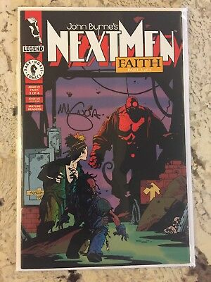 Next Men #21 Faith 3 First 1st Hellboy great condition signed by Mike Mignola