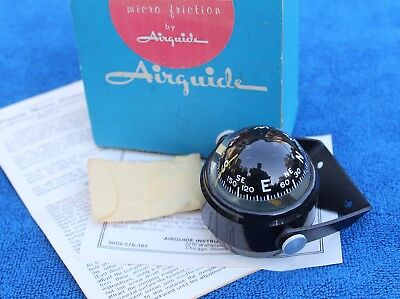 Vintage Airguide Model 57-B Marine Compass Accessory Boat GM Box Truck Jeep GM