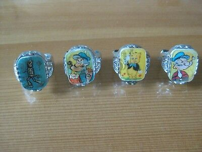 Vintage Gumball Flicker Rings Set Of Four (4)
