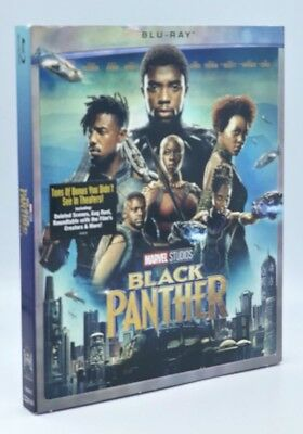Black Panther (Blu-ray Disc, 2018) NEW w/ Slipcover  Marvel  Auction