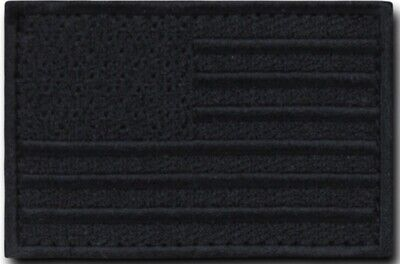 Usa American Flag Tactical Us Morale Military Black Velcro® Brand Fasten Patch