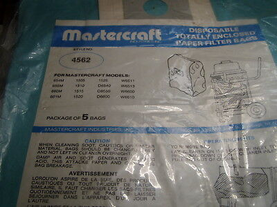 (14) MicroPly Paper Filter Bags Enviromaster Mastercraft Style 4562