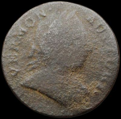 US Colonial. Vermont Copper, 1787, RR-14 Ryder 14