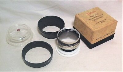 Kodak Retina Longar Xenon C 80Mm 1:4 Telephoto Lens In Ob W/ Bubble Case & Hoods