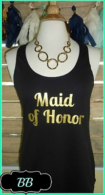 NEW size M misses fit maid of honor tank top bachelorette party will you maid of